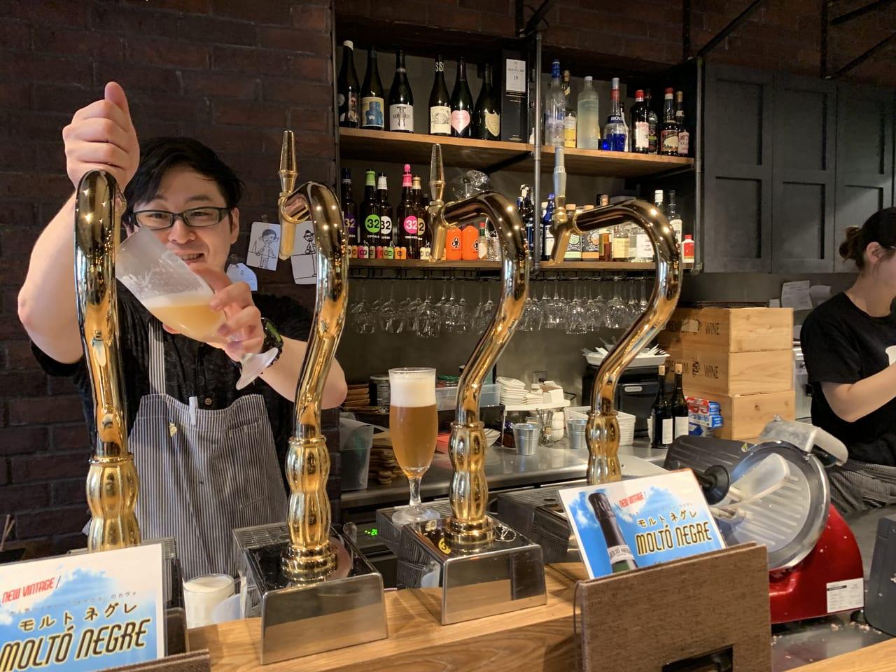 柴田酒店のビールサーバー