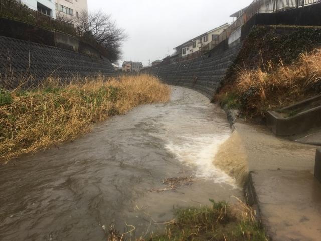 河川の水位上昇